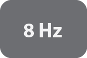 Measurement Rate of 8Hz